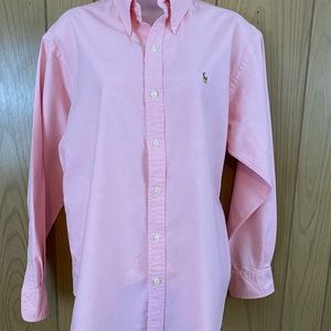 RALPH LAUREN SPORT PINK BUTTON DOWN SHIRT